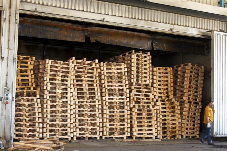 secagem da madeira paletes fábrica aji madeiras